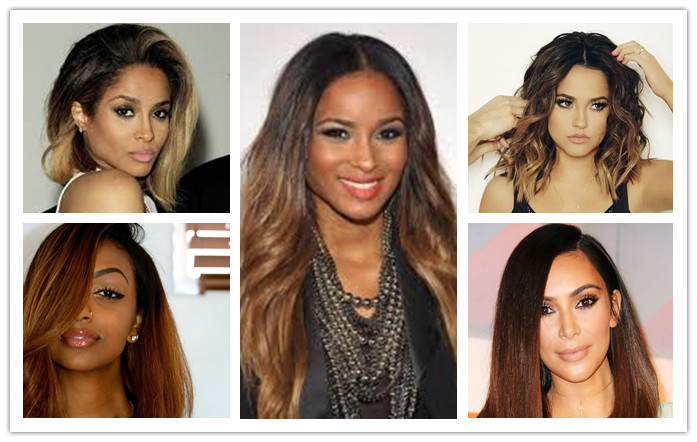 toned color hair wigs