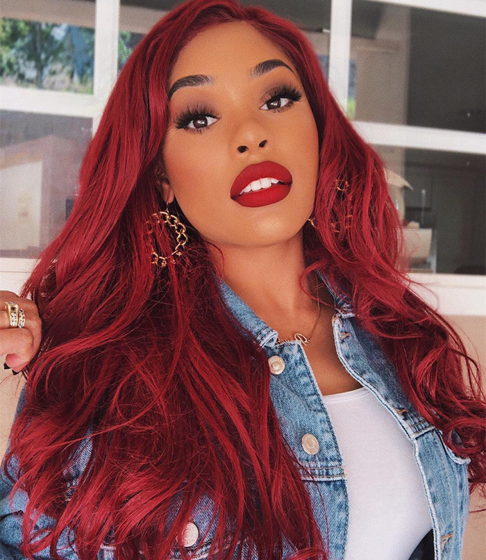 red wigs