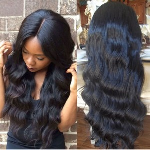【Wigs】Full Lace Wigs Brazilian Hair Body Wave Wig Natural Color