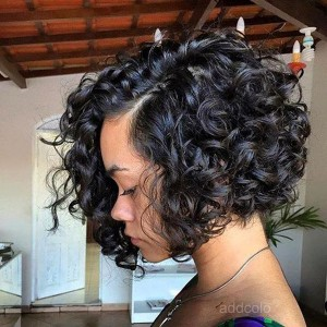 【Wigs】Full Lace Wig Brazilian Hair Curly Wig Natural Color