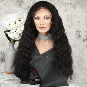 Human Hair Lace Front Wigs Natural Black Brazilian Hair Natural Wavy Wig