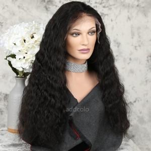 Human Hair 360 Lace Frontal Wigs Natural Color Brazilian Hair Natural Wavy Wig