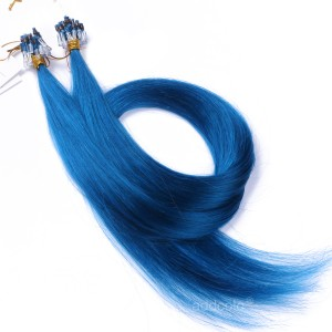 【Addcolo 10A】Micro Loop Hair Extensions Peruvian Hair #Blue Color