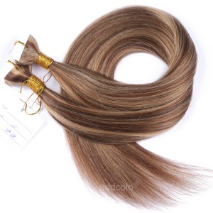 【Addcolo 10A】Tape In Hair Extensions 100% Human Hair #27/#6 Highlight Color