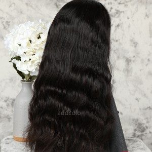 Body Wave Human Hair Half Wigs Natural Color Brazilian Hair Machine Made Wigs