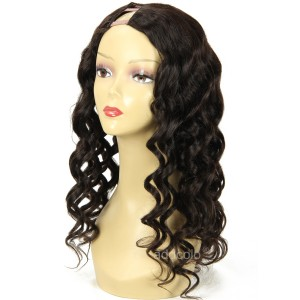 "1""x4"" Right Part U Part Wig Human Hair For Women Loose Wave Upart Wigs"