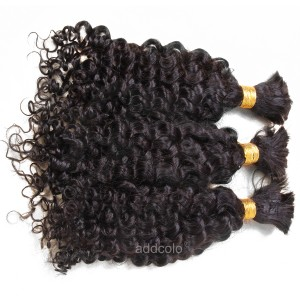 【Addcolo 8A】Brazilian Hair Deep Curly Bulk Human Hair for Braiding