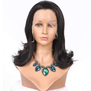 【Wigs】Synthetic Wigs Bouncy Curly #2/#6 Highlight Color Lace Front Wig