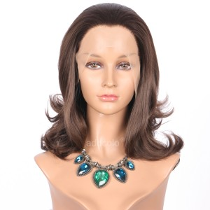 【Wigs】Synthetic Wigs Bouncy Curly #6/#8 Highlight Color Lace Front Wig