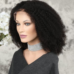 Human Hair 360 Lace Frontal Wigs Natural Color Brazilian Hair Afro Curl Wig