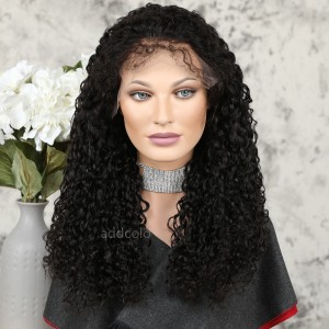 Human Hair 360 Lace Frontal Wigs Natural Color Brazilian Hair Curly Eleven Wig