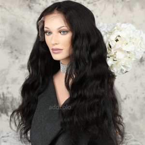 Human Hair Lace Front Wigs Natural Color Brazilian Hair Loose Body Wave Wig