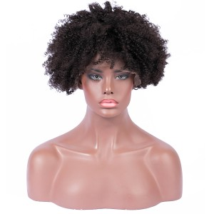 【Wigs】Afro Kinky Curly Lace Front Wig Brazilian Human Hair Wigs for Black Women