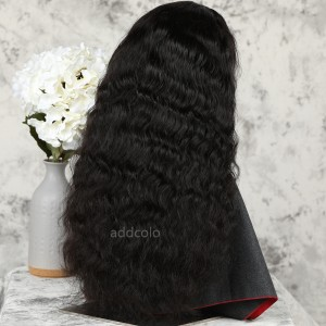Natural Wavy Human Hair Half Wigs Natural Color Brazilian Hair Machine Made Wigs