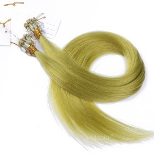【Addcolo 10A】Micro Loop Hair Extensions Peruvian Hair #Light Green Color