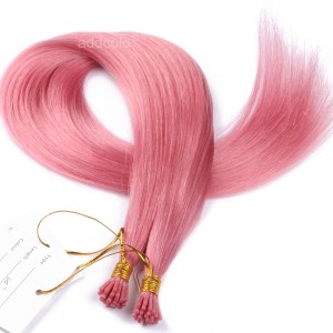 【Addcolo 10A】I Tip Hair Extensions Brazilian Hair Color #Pink