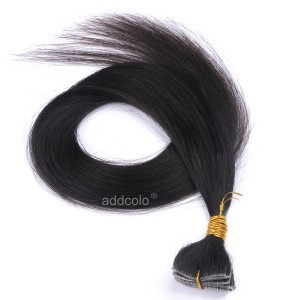【Addcolo 10A】Tape In Hair Extensions Brazilian Hair Natural Black Color