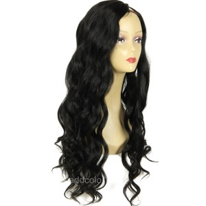 Natural Wave U Part Human Hair Wig Color #1 High Density U Part Wigs