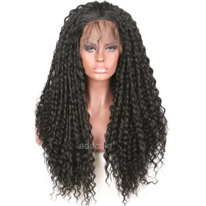【Wigs】Synthetic Wigs Curly Black Lace Front Wig