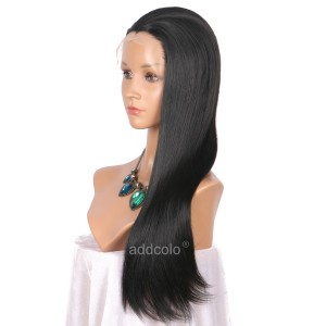 【Wigs】Synthetic Wigs Straight Color #2 Lace Front Wig