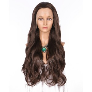 【Wigs】Synthetic Wigs Super Wavy #6/#8 Mixed Color Lace Front Wig