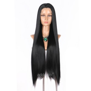 【Wigs】Synthetic Wigs Straight Color #1 Lace Front Wig