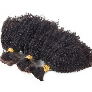 【Addcolo 8A】Bulk Human Hair for Braiding Indian Hair Afro Kinky Curly