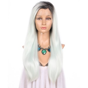 【Wigs】Synthetic Wigs Straight Color #C001 Lace Front Wig