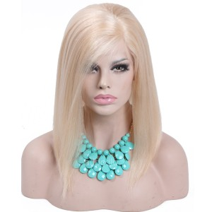 【Wigs】Full Lace Wig Brazilian Hair Straight Bob Wig Color #22