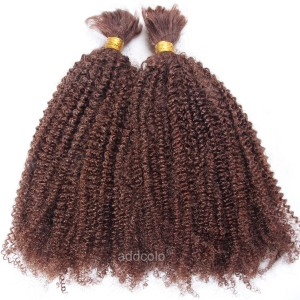 【Addcolo 8A】Bulk Human Hair for Braiding Afro Kinky Curly Brazilian Hair