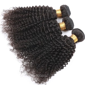【Addcolo 8A】Hair Weave Natural Color Brazilian Kinky Curly Hair Bundles