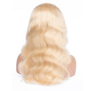 Human Hair Wigs Body Wave Blonde Color #613 Natural Hairline Lace Wigs
