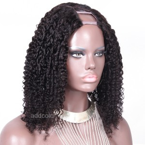150% Heavy Density Tight Curly U Part Wig Human Hair Wigs For Black Women