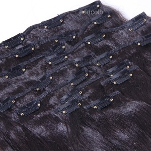 【Addcolo 8A】Clip-In Hair Extensions Brazilian Hair Yaki Straight