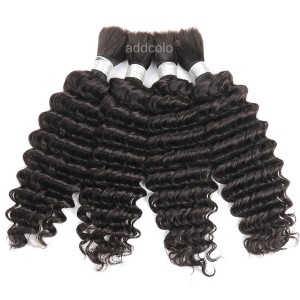 【Addcolo 8A】Bulk Human Hair for Braiding Brazilian Hair Deep Wave