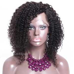 African American Wigs 150% Density Kinky Curly Silk Base Wigs With Baby Hair