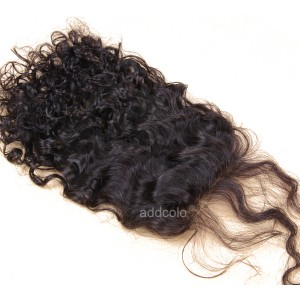 "【Closures】Hair Closure Brazilian Remy Hair Loose Curly 4""x4"" Closure"