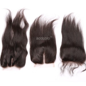 "【Closures】Hair Closure Brazilian Human Hair Straight 4""x4"" Lace Closure"