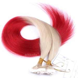 【Addcolo 10A】Tape In Hair Extensions Brazilian Hair #60/#Red Ombre Color