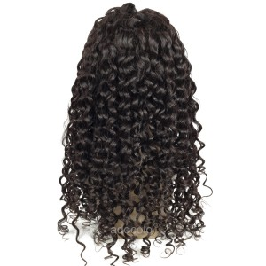 【Wigs】Human Hair Lace Wig Brazilian Hair Deep Body Wave Wig Natural Color
