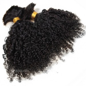 【Addcolo 8A】Bulk Human Hair for Braiding Brazilian Hair Tight Curly