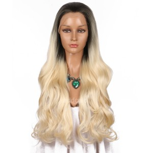 【Wigs】Synthetic Wigs Super Wavy #8/#613 Ombre Color Lace Front Wig