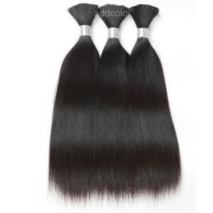 【Addcolo 10A】Bulk Human Hair for Braiding Silky Straight Brazilian Hair