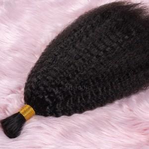 【Addcolo 8A】Bulk Human Hair for Braiding Kinky Straight Brazilian Hair