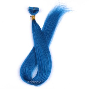 【Addcolo 10A】Tape In Hair Extensions Brazilian Hair #Blue Color