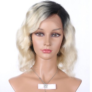 Full Lace Wig Brazilian Hair Bob Wig Ombre Color #1B T #613