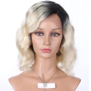 Full Lace Wig Brazilian Hair Bob Wig Ombre Color #1B T #613