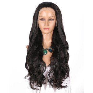 【Wigs】Synthetic Wigs Super Wavy #2/#6 Mixed Color Lace Front Wig