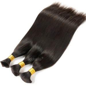 【Addcolo 8A】Bulk Human Hair for Braiding Brazilian Hair Silk Straight