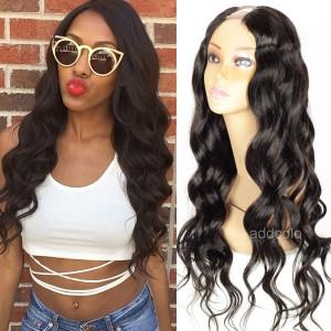Cheap U Part Wigs Brazilian Long Hair Loose Wave Middle Part U Wigs For Sale
